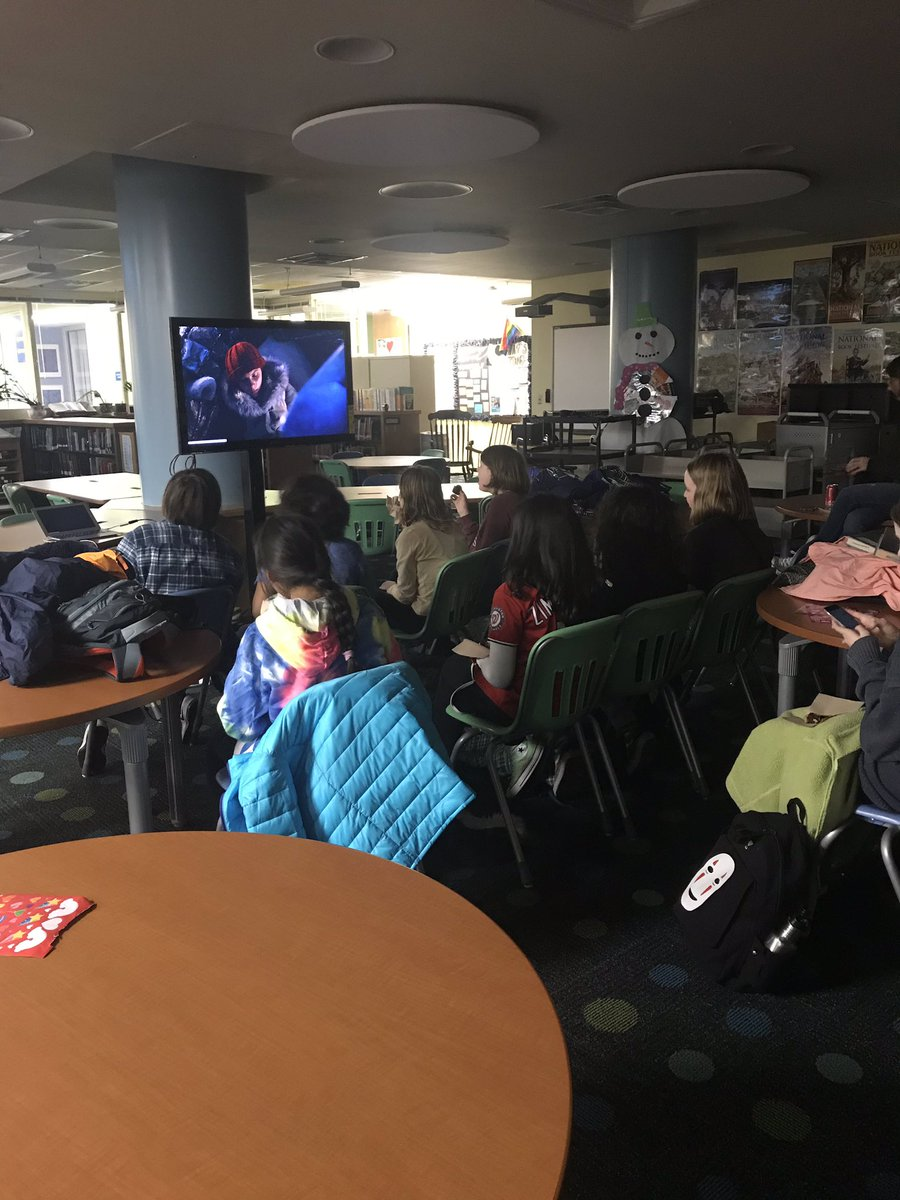 On Friday afternoon we stay after school to watch movie/tv adaptations of our favorite books. <a target='_blank' href='http://twitter.com/APSVirginia'>@APSVirginia</a> <a target='_blank' href='http://twitter.com/APSLibrarians'>@APSLibrarians</a> <a target='_blank' href='http://twitter.com/JeffersonIBMYP'>@JeffersonIBMYP</a> <a target='_blank' href='http://search.twitter.com/search?q=tjmsreads'><a target='_blank' href='https://twitter.com/hashtag/tjmsreads?src=hash'>#tjmsreads</a></a> <a target='_blank' href='http://search.twitter.com/search?q=tjmsrocks'><a target='_blank' href='https://twitter.com/hashtag/tjmsrocks?src=hash'>#tjmsrocks</a></a> <a target='_blank' href='http://search.twitter.com/search?q=middleschoollibrary'><a target='_blank' href='https://twitter.com/hashtag/middleschoollibrary?src=hash'>#middleschoollibrary</a></a> <a target='_blank' href='https://t.co/hM39z0D8TY'>https://t.co/hM39z0D8TY</a>