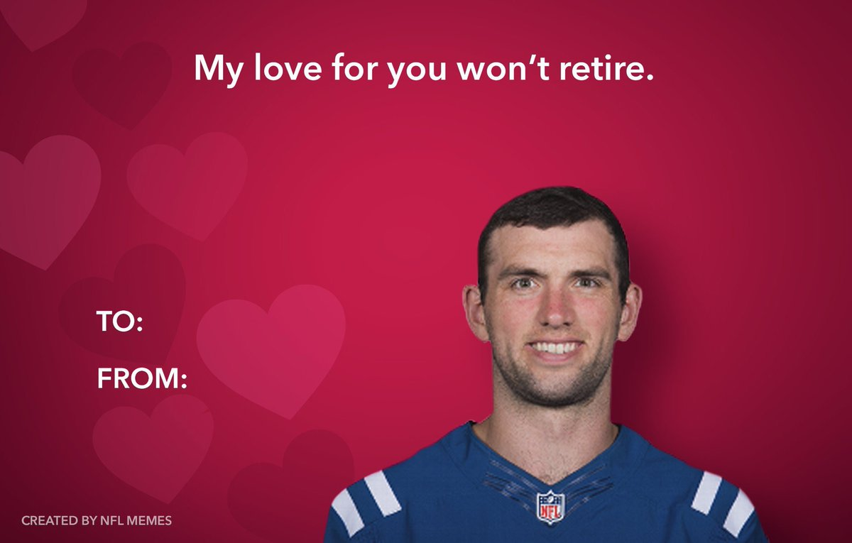 #ValentinesDay #AndrewLuck #Colts #IndianapolisColts #Whydidyouleavelikethat #Missyou