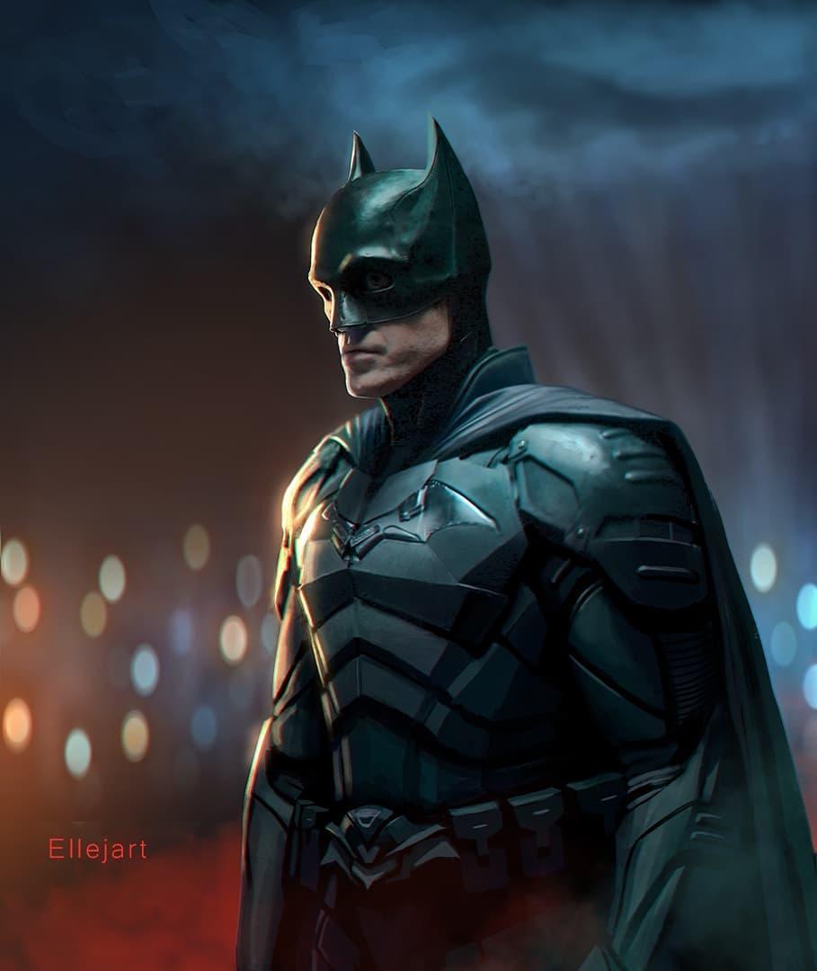Increíble fanart del traje de #Batman de #RobertPattinson de como se vería entero.  Hecho por @ellejart pic.twitter.com/BHWCo4ELKw