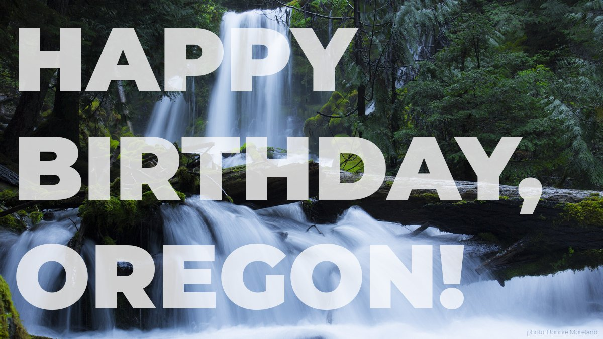 I'm always proud and honored to represent the people of Oregon, and on no day am I prouder than on the anniversary of Oregon's statehood. Happy birthday, Oregon. Here's to another 161 years! 🎂