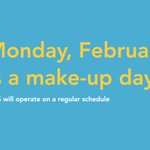 Image for the Tweet beginning: REMINDER! Monday, February 17 is