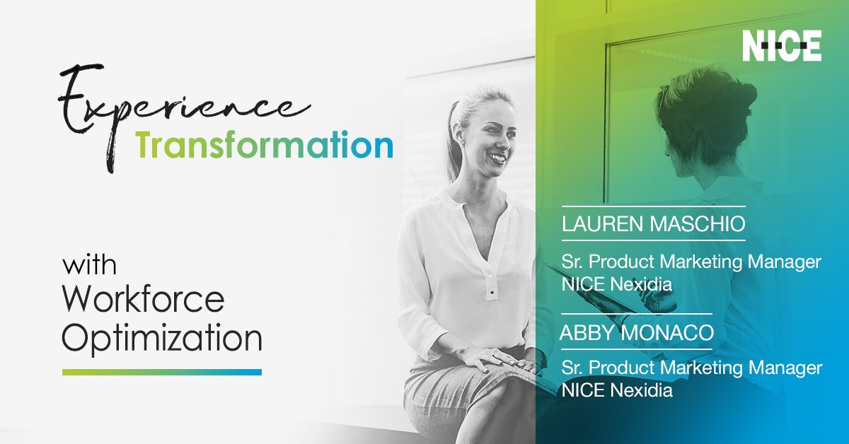 WEBINAR: The New Age of AI Data-Modeling in Quality Management Presented by: Lauren Maschio and Abby Monaco, NICE Nexidia Tuesday, March 3, 2020 at 2:00 p.m. ET  REGISTER NOW >> https://okt.to/FQhkIm  #CX #WFO #qualitymanagement #contactcenter #automation #AIpic.twitter.com/5PZu0UZWeR