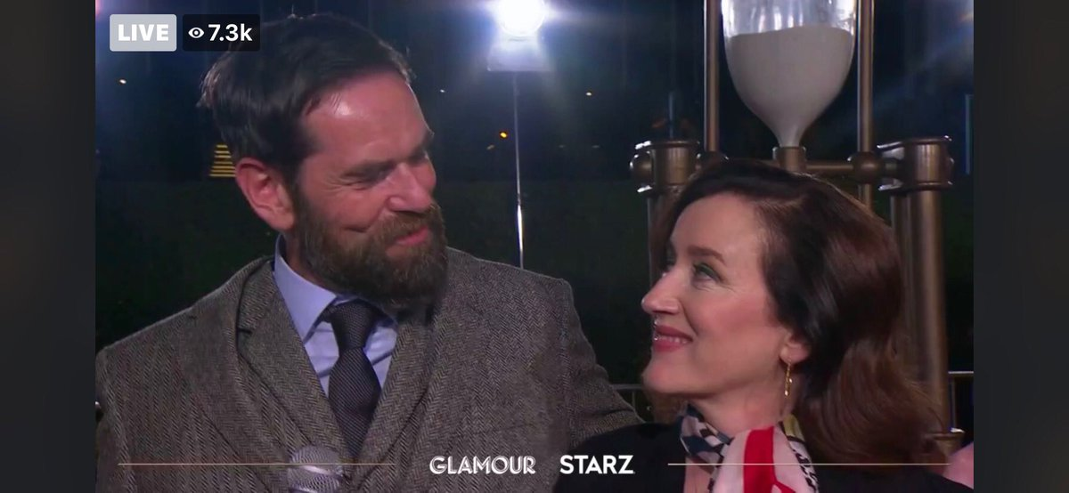 """@mariadkennedy @Outlander_STARZ I got some fun screen grabs of """"Murcasta"""" off my monitor! You two were priceless on the red carpet!  😂🤗❤️"""