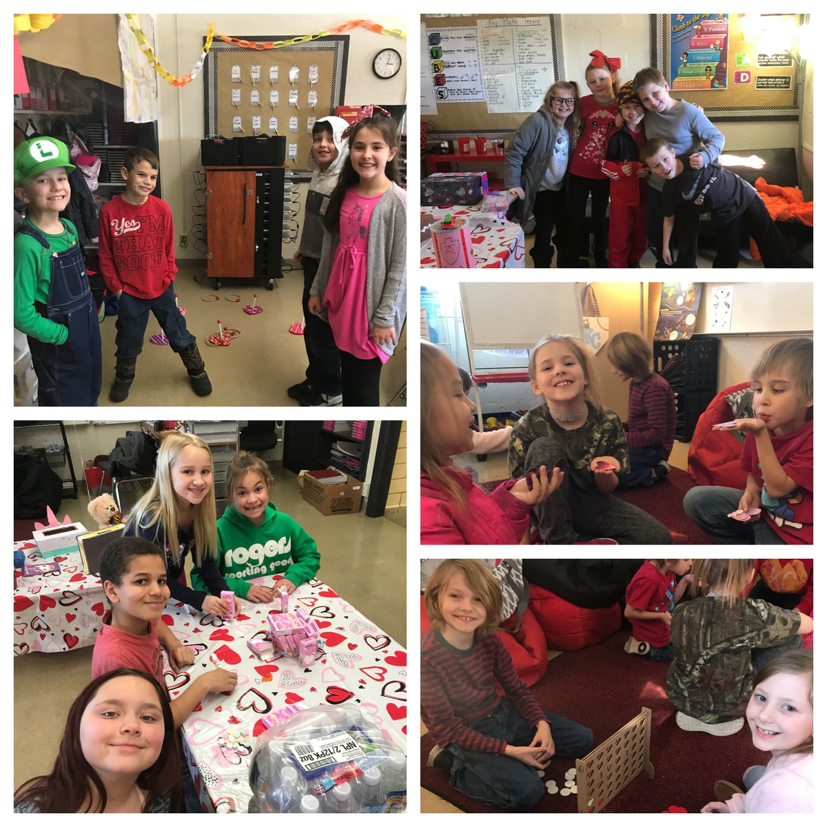 Happy Valentine's Day from our class to yours! Thank you families for all of your help! ❤️🤍 #TigerLegacy