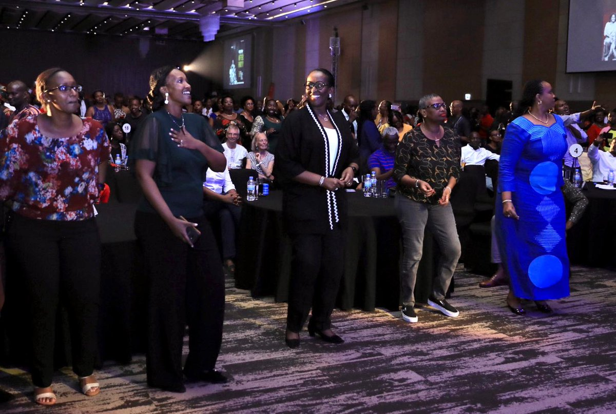 PHOTOS: First Lady Jeannette Kagame at the @KASSAV_OFFICIAL legendary band concert, featuring Rwandas very own @TopherMuneza | Kigali Convention Centre, 14 February 2020