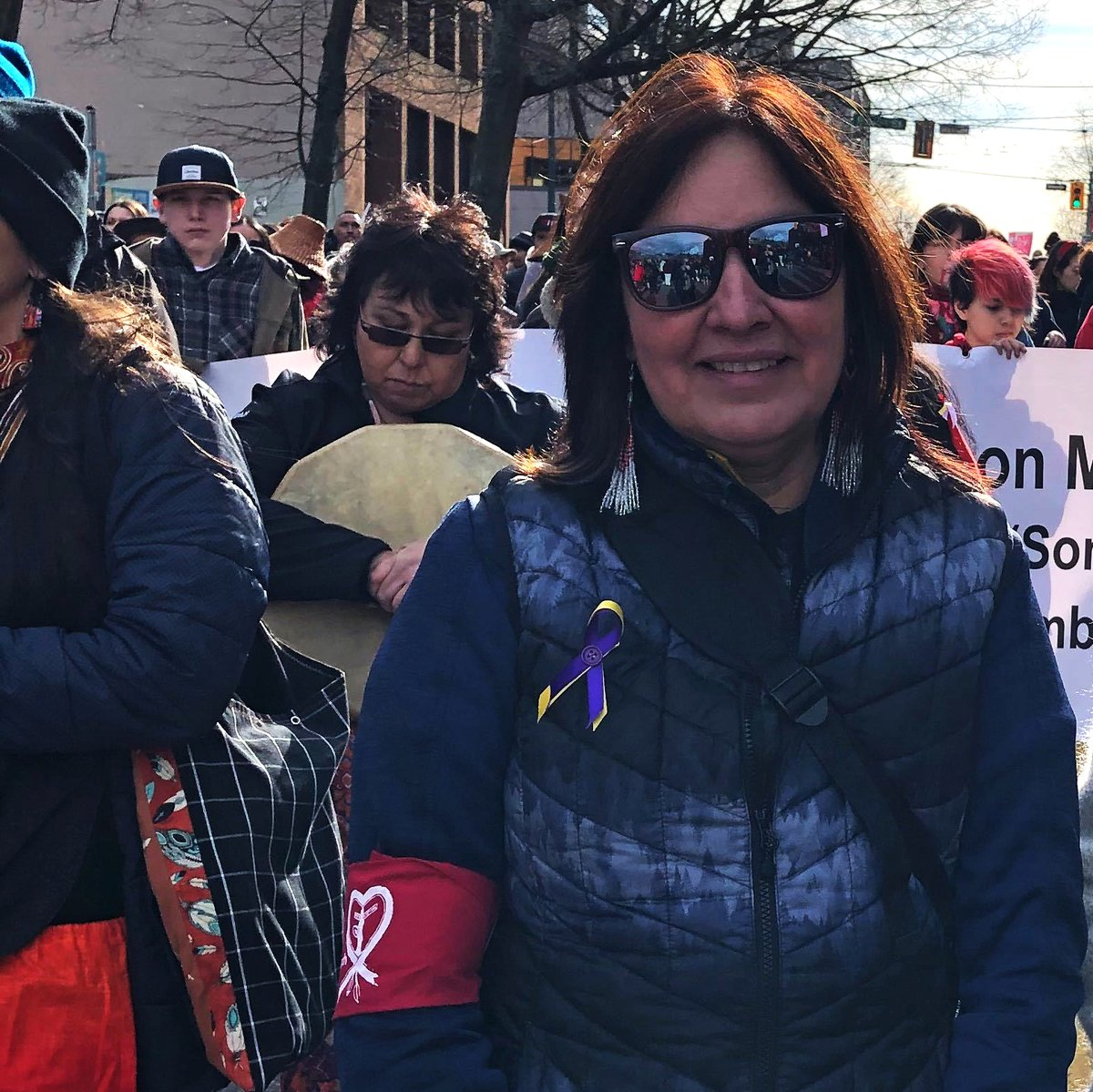 Unifor activists participated today in the 29th Women's Memorial March in Vancouver to honour and remember MMIWG2S