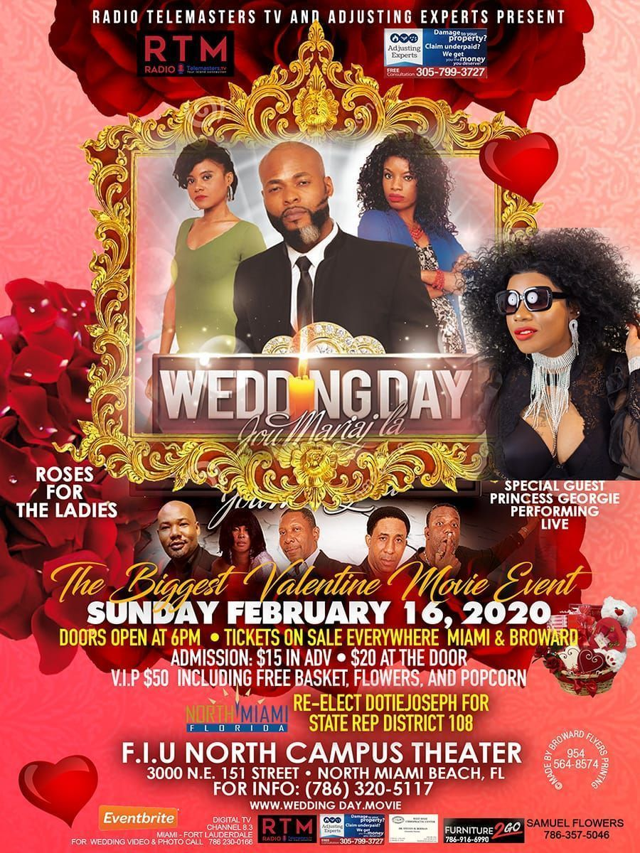 """Reminder to join #TeamDotie this Sunday for a showing of the Haitian-American film """"Wedding Day"""""""