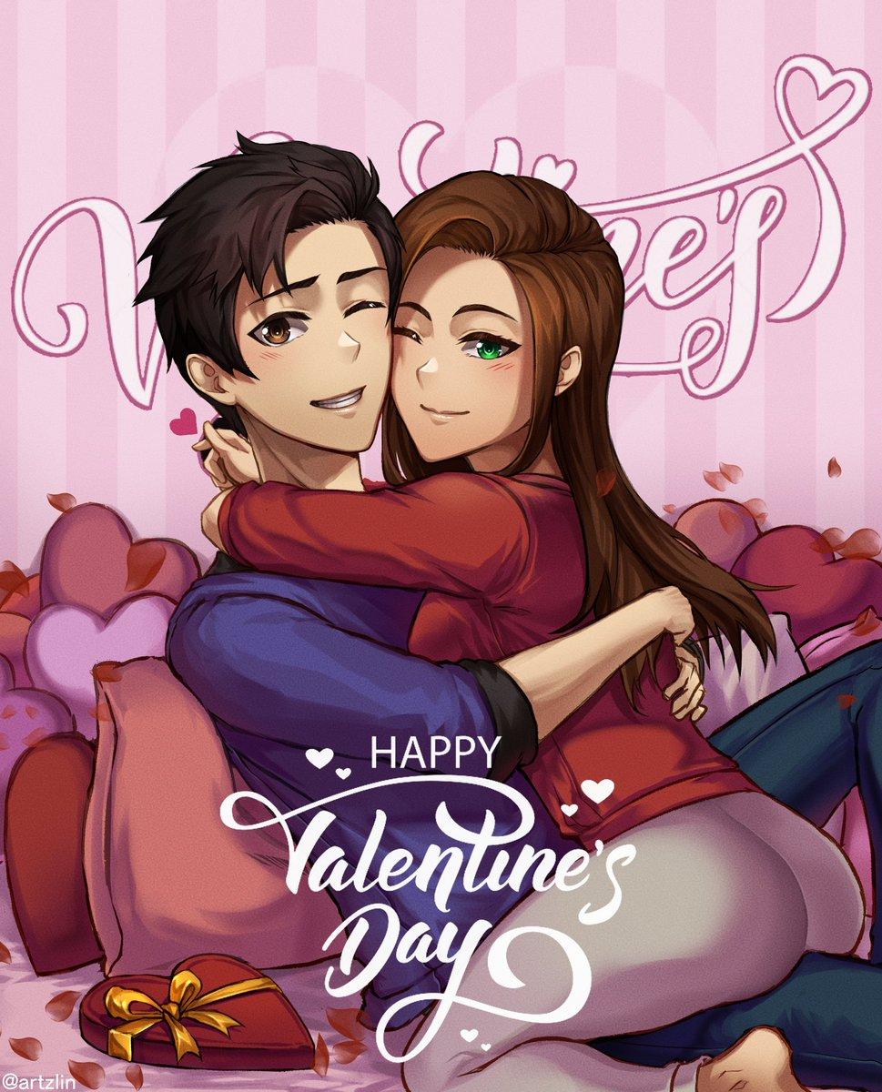 Happy Valentine's Day! #ValentinesDay2020 #ValentinesDay #VDay #anime #manga #digitalart #art #artwork #animecouple #sanvalentino #animemanga #mangaanime #love #mangacouple #animeart #animeartist #artist  #drawing  #animestyle #painting #illustration #HappyValentinesDay2020pic.twitter.com/XCknMF3yOU
