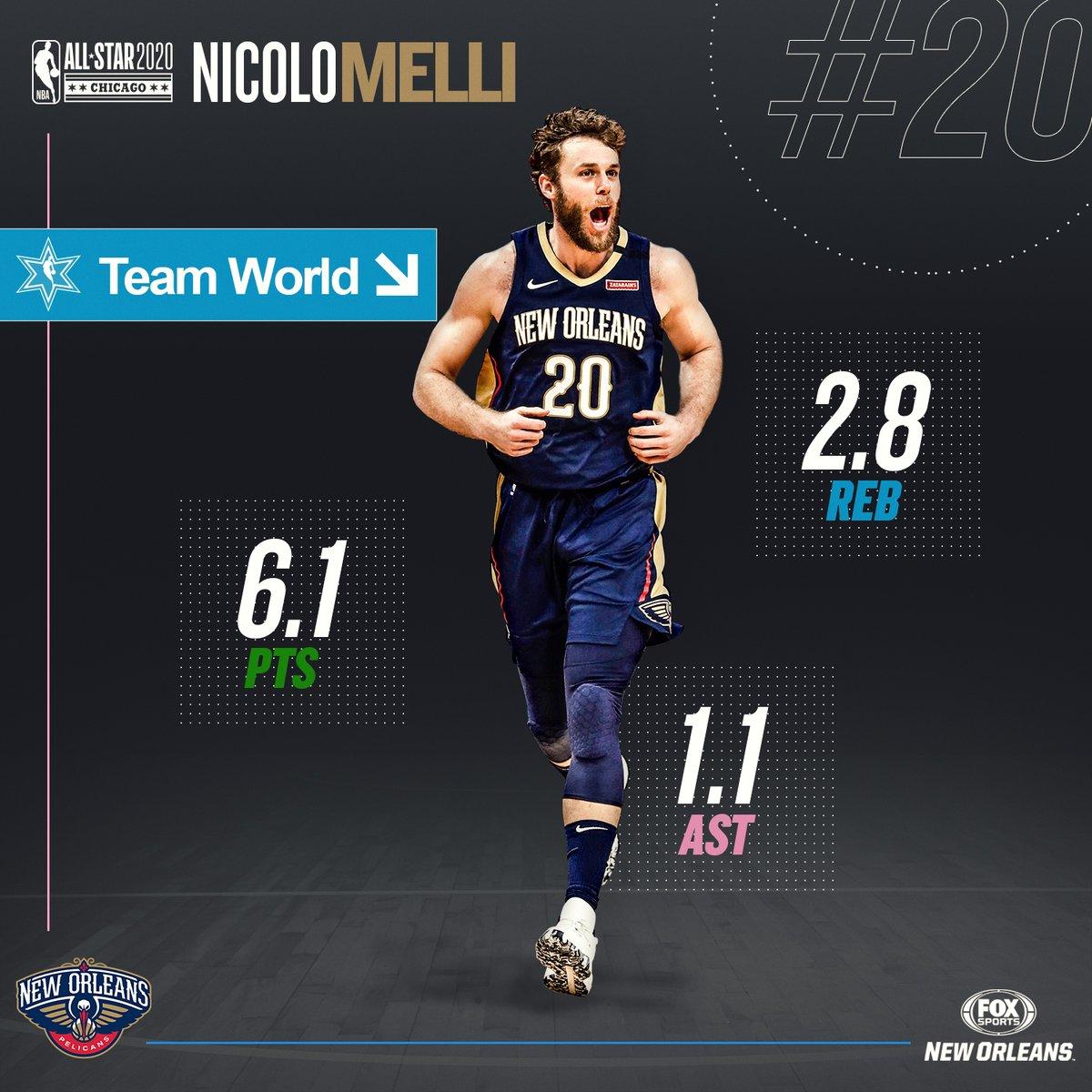 Don't miss @NikMelli and @NickeilAW representing Team World in tonight's #NBARisingStars Challenge in Chicago. #NBAAllStar @PelicansNBA  #WontBowDown