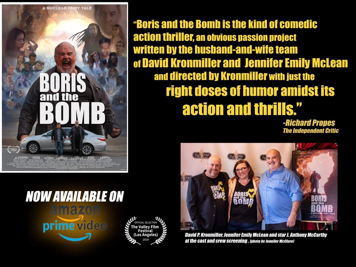 The #reviews just keep getting better!  Watch Rate Review @BorisandtheBomb on Amazon Primehttps://www.amazon.com/gp/aw/d/B08434RY3K/ref=cm_cr_arp_mb_bdcrb_top?ie=UTF8!   @indierights #supportindiefilm #culthit #cultmovie #boom #indiefilm #indiefilmmaking #FilmTwitterpic.twitter.com/uqw7M0YVj1