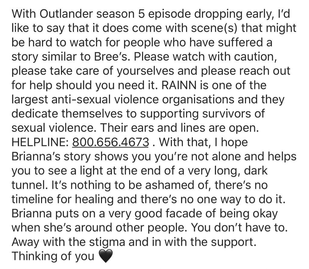 @Outlander_STARZ  @RAINN