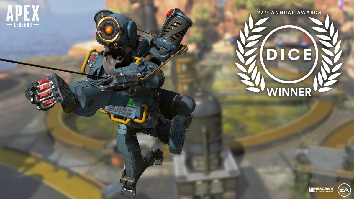 Congrats to @Respawn for winning TWO #DICEAwards today, taking home 'Online Game of the Year' for @PlayApex & 'Adventure Game of the Year' for #StarWarsJediFallenOrder!  We are so proud that our team's hard work was recognized for creating such beloved titles. Thank you! #WeAreEA