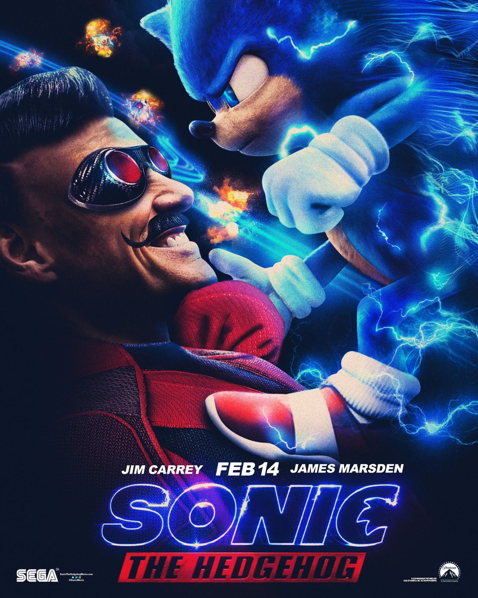 Graphic Designer On Twitter Heres Another Poster I Designed For The Sonic The Hedgehog Movie Featuring Jim Carrey As Dr Robotnik Which Just Released In Theaters Today Make Sure Yall Go