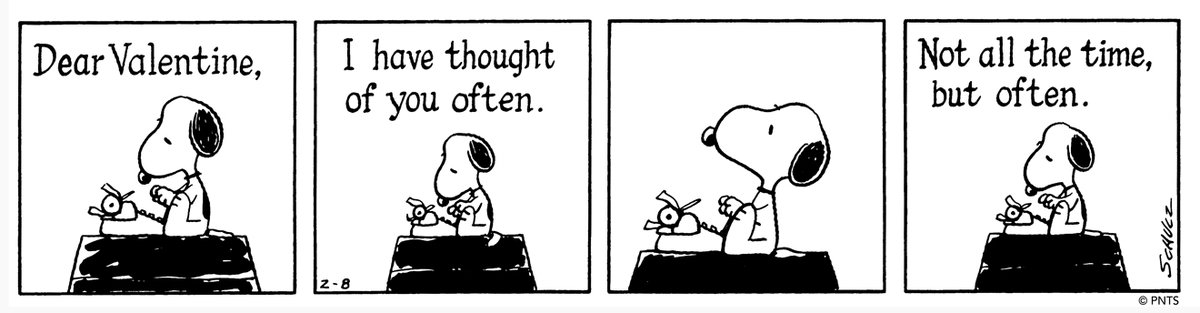 💝 This Peanuts strip was first published on February 8, 1983.