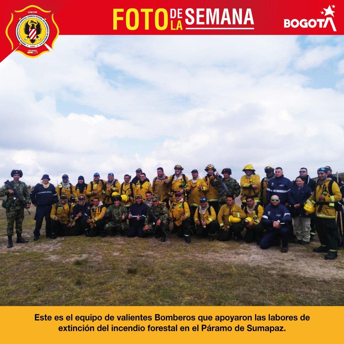 En la #FotoDeLaSemana les mostramos al equipo que apoyó las labores de extinción del incendio forestal que se presentó en el Páramo de Sumapaz 👏