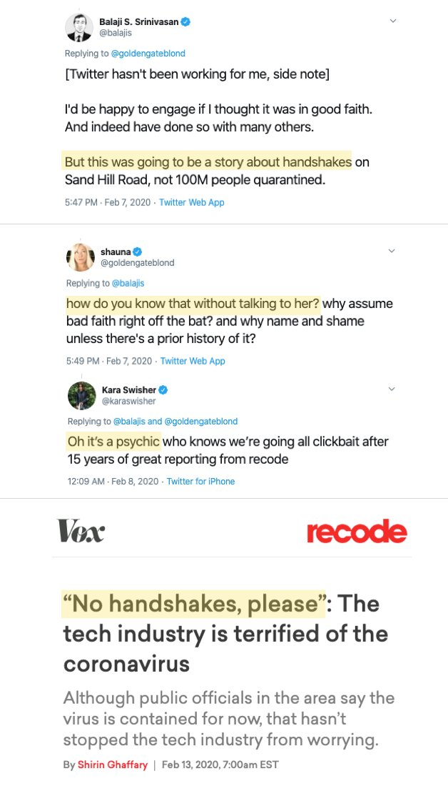 A great example of why journalistic activism is a danger to society. That it was @recode. Anyone surprised? That @karaswisher doubles down. Par for the course. Original thread, h/t: @jonst0kes