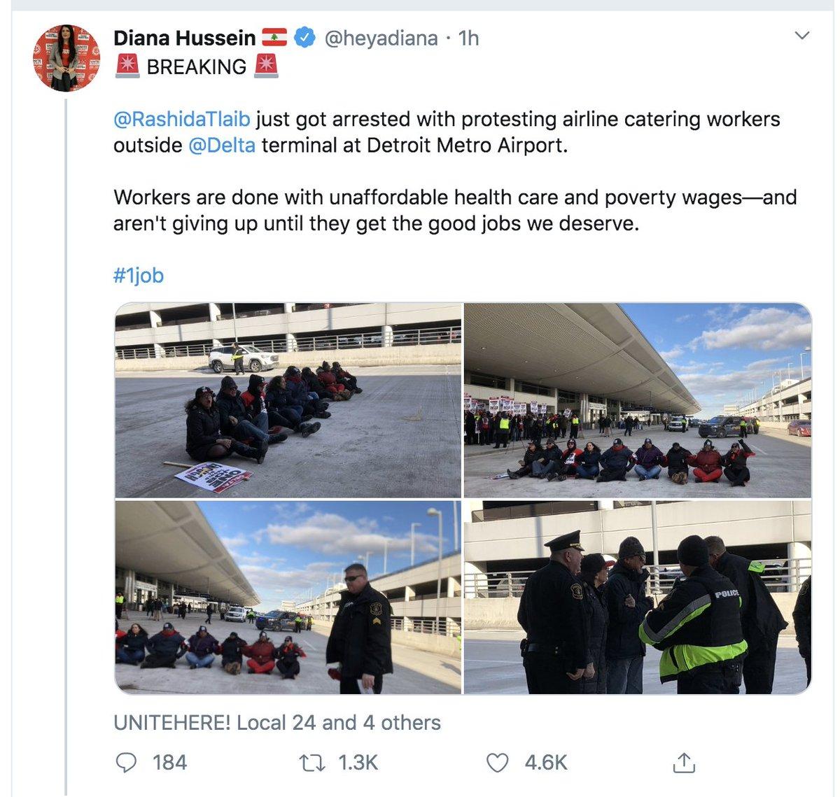 Oops. 4,600 likes later, @RashidaTlaib was NOT arrested... twitter.com/heyadiana/stat…
