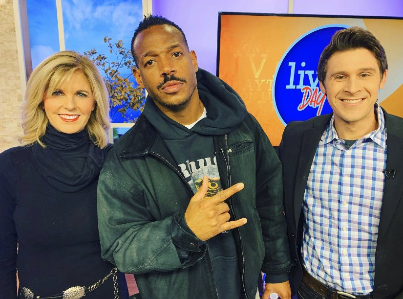 @MarlonWayans is so awesome! Great to catch up with him again on @livingdaytontv ! Check him out this weekend at the @daytonfunnybone !