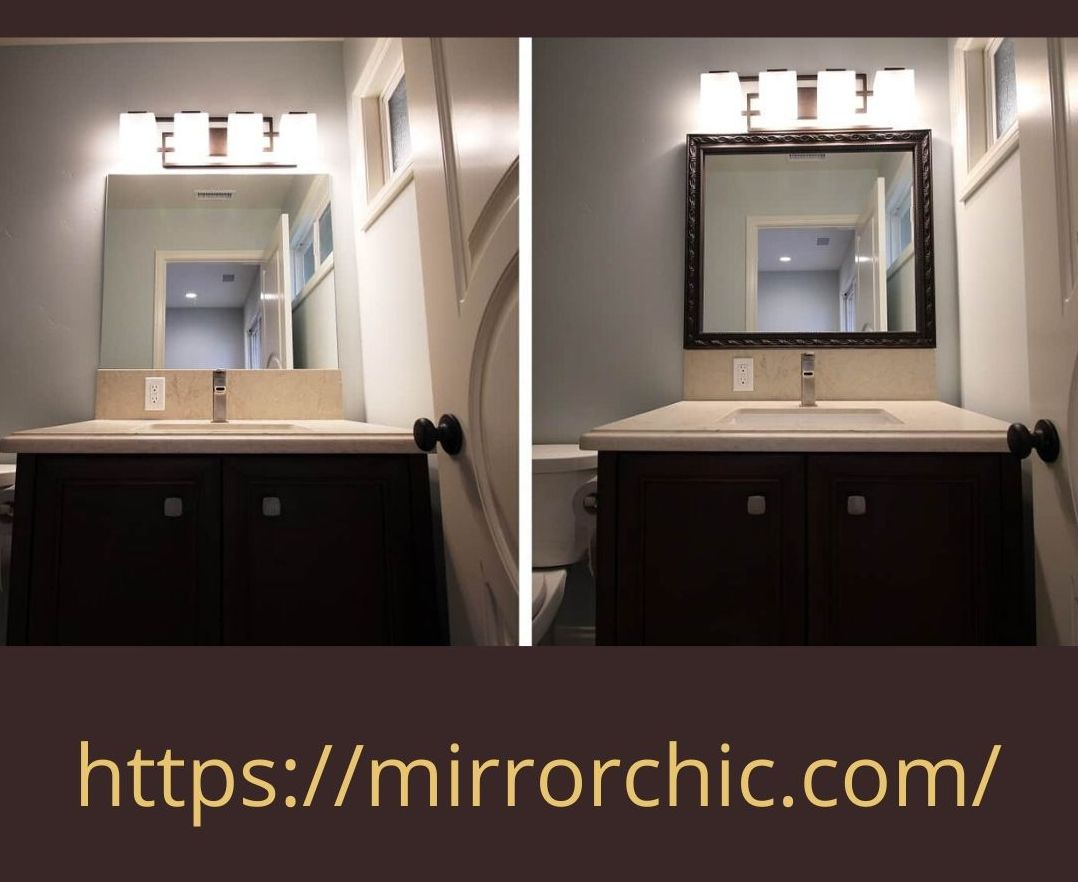 Remodeling your bathroom or plan to in the future? Don't remove your mirror, save the money, frame it with Custom Bathroom Mirror Frames. 800-311-2163. https://mirrorchic.com/ #Diyinspiration #Diydecor #Diyshop #Diyidea #Diyhome #Diyproject #Diyhomeprojects #Bathroommakeoverpic.twitter.com/aqYTpTzteA