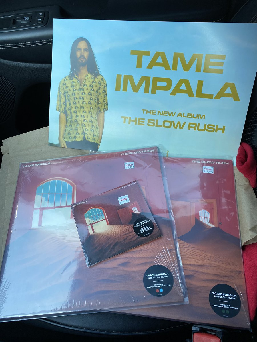 Walking in planning on getting one version 🥴anyways I'm so happy with this album already! Thank you King Kevin for giving us another masterpiece! @tameimpala #TheSlowRush @Spinning_Top