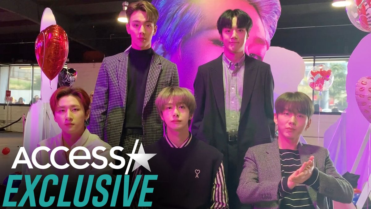.@OfficialMonstaX shut down Hollywood with their pop-up experience! Plus, the kings shared their fave tracks from #AllAboutLuv!💜 #MONSTAX #MONBEBE #MONSTA_X