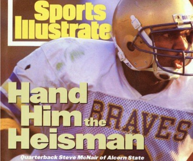 Happy Birthday to a Legend  Alcorn State Steve McNair Heisman Campaign 1994 (