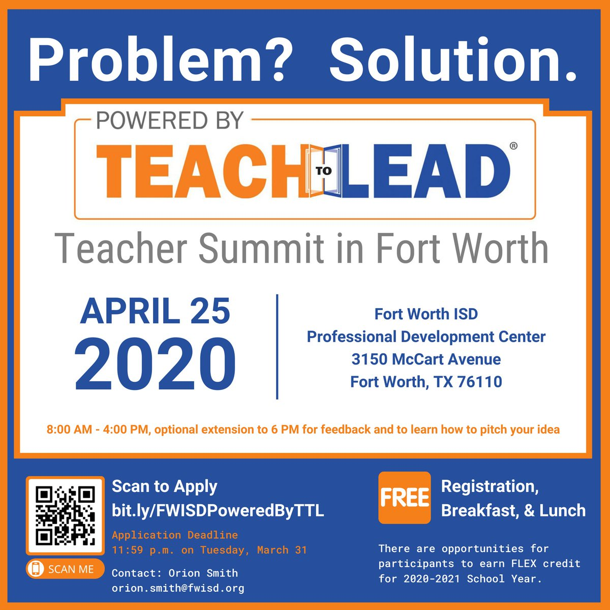 Learn more about the FORT WORTH #PoweredbyTTL Summit! #FWISD fwisd.org/Page/23361