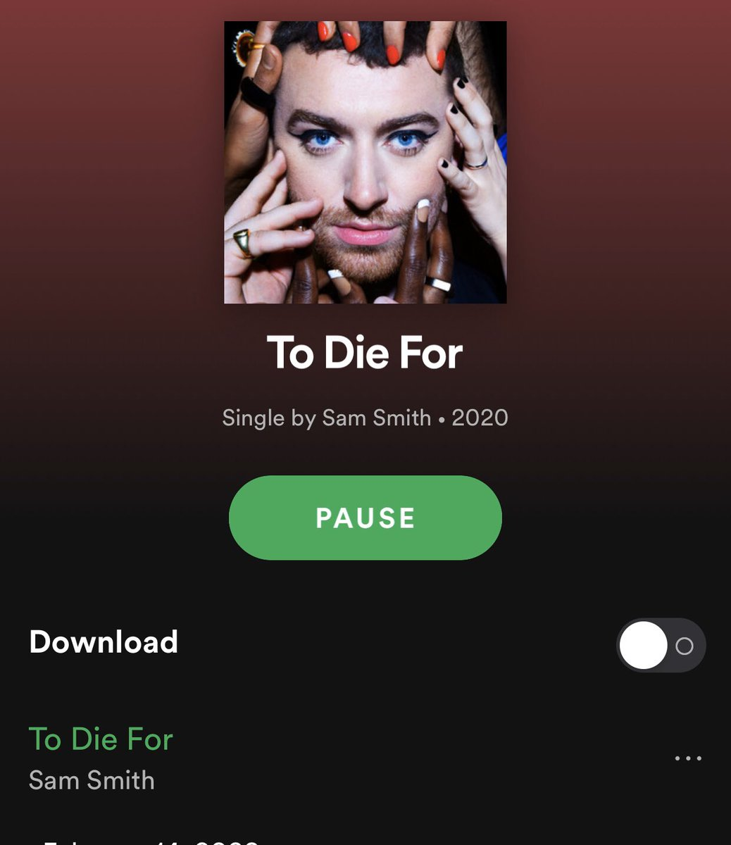 The only valentines gift I needed @samsmith ❤️#ToDieFor