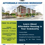Image for the Tweet beginning: The Affordable Housing Workshop is