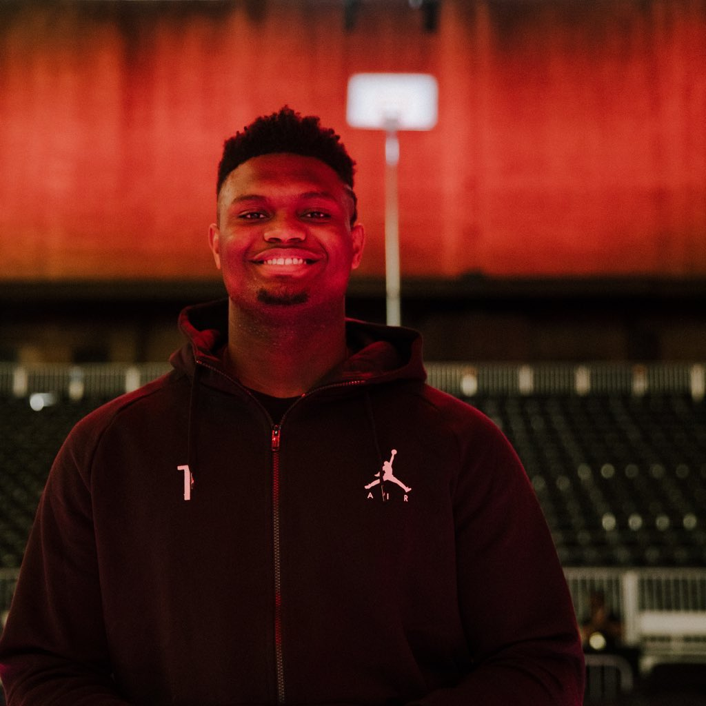 """Feels like family."" - @Zionwilliamson  #JUMPMAN"