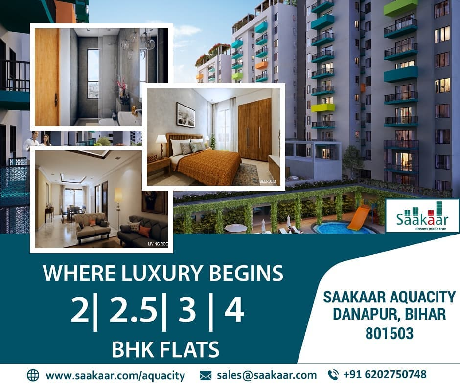 Make a move for the life of luxury, lesiure and comfort. Saakaar Aquacity is the new name for luxurious lifestyle in the city of Patna, Bihar.  For more information visit  http://www.saakaar.com/aquacity  #patna #bihar #aquacity #realestatenews #realestatefacts #2bhk #3bhk #SaturdayVibespic.twitter.com/2w1X7RlU40