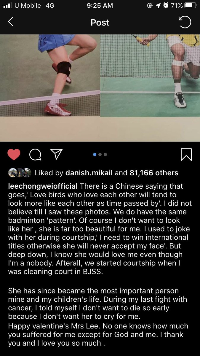 RT @mabitxch: I think we need a moment for Lee Chong Wei's captions 🥺💖 https://t.co/QMYEmS74gJ