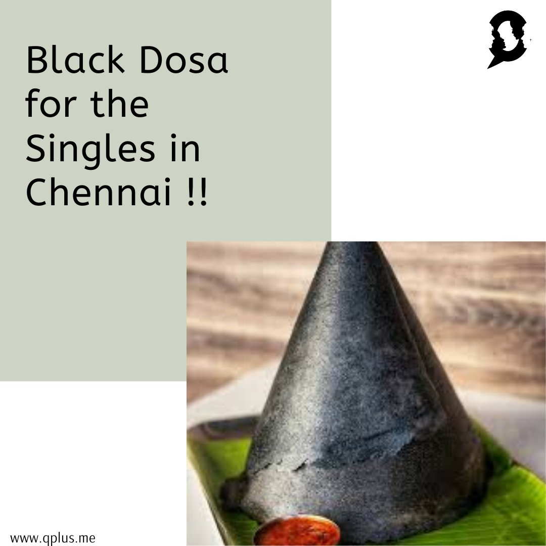 Valentine's week is coming to an end. Still have two more days to enjoy your identity as 'Single' with this Black Dosa. Read now: https://www.qplus.me/black-dosas-for-you-if-you-are-single/…  #QPlus #QPlusMe #QPlusMyIdentity #LifestyleMagazine #BlackDosa #ValentinesDay2020 #AdyarAnandaBhavan #A2B #CharcoalDosapic.twitter.com/GkwRabkSyg