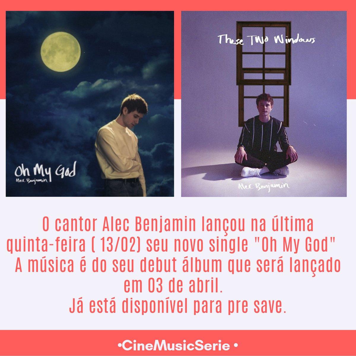 """O álbum """" THESE TWO WINDOWS"""" do @AlecBenjamin será lançado em 03 de abril.  Já está disponível  Pre save do álbum :   #ListenAlecBenjamin"""