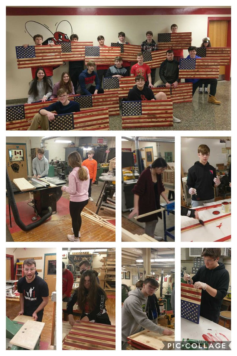 Everyone's favorite part of the Computer Integrated Manufacturing class!  @Bville_Bees students designed and built their own flags using all the tools. Makers gotta make!  #CIM #PLTW #CNC #Laguna #MERICA #HANDSONLEARNING #TECHNOLOGYEDUCATION @BCSDBEES @mrdenton1 @MatthewJMcDona4pic.twitter.com/roehamJW4L