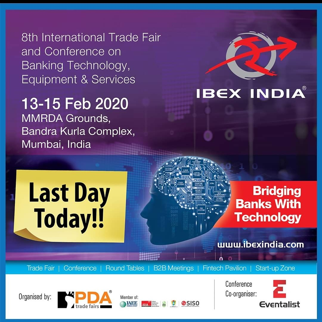 Last Day of #IBEXINDIA 2020, to experience the newly launched #banking technologies in REAL TIME,   Source & Analyse the latest #bankingtechnology under ONE Roof!!   VISIT TODAY   Contact us : Sathya, M: 9986512463, E: sathya@pdatradefairs.com  #Fintech #bankingExpo #BankingEventpic.twitter.com/REBCiWfoWA