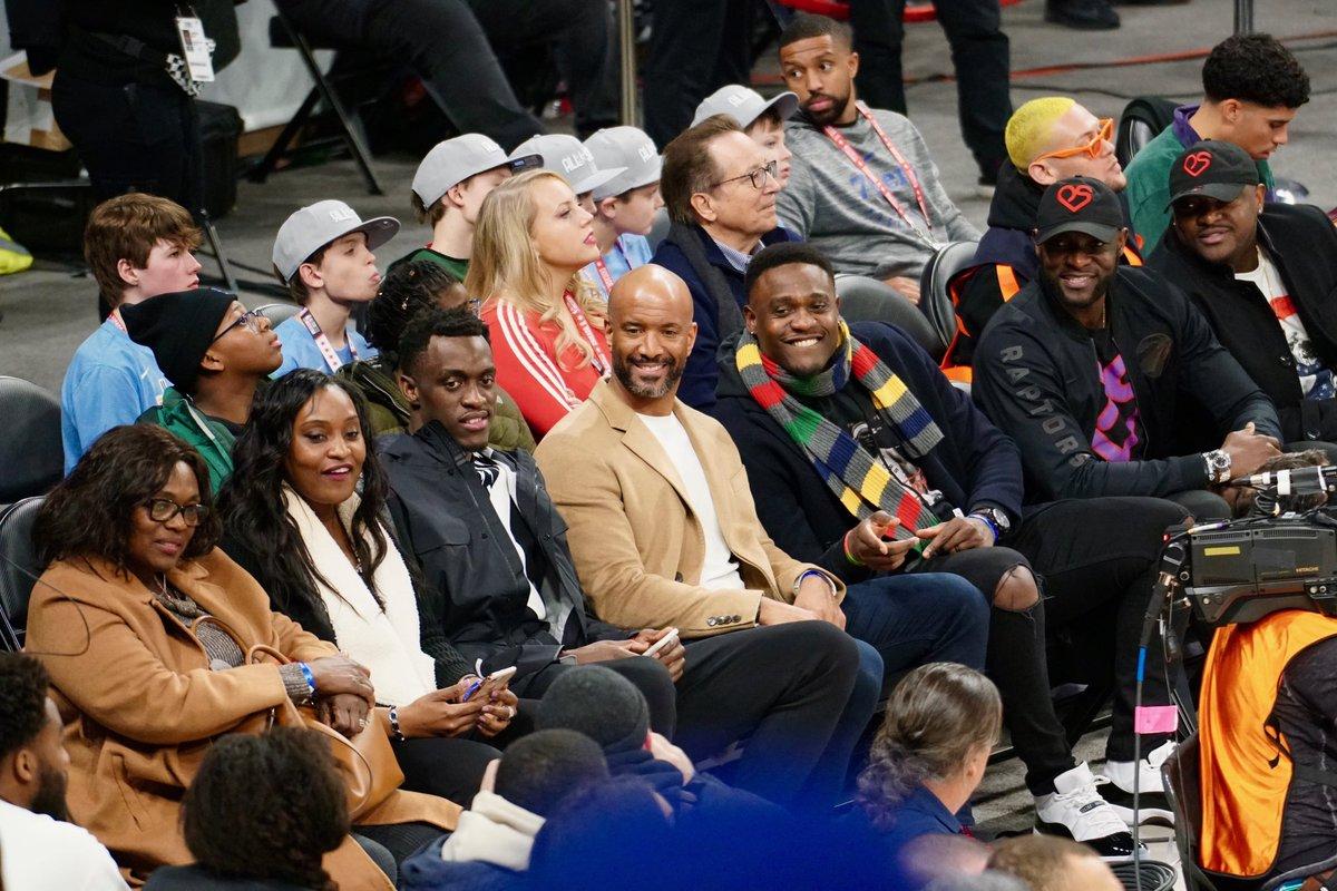 Family time at the #RufflesCelebGame. #NBAAllStar | #WeTheNorth