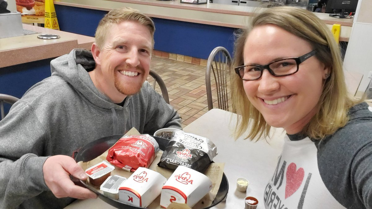 8 years, 8 Valentine's Day meals together at @Arbys! #thetraditioncontinues #theyhavethemeats #roastbeef #beefandcheddar #potatocakes – at Arby's