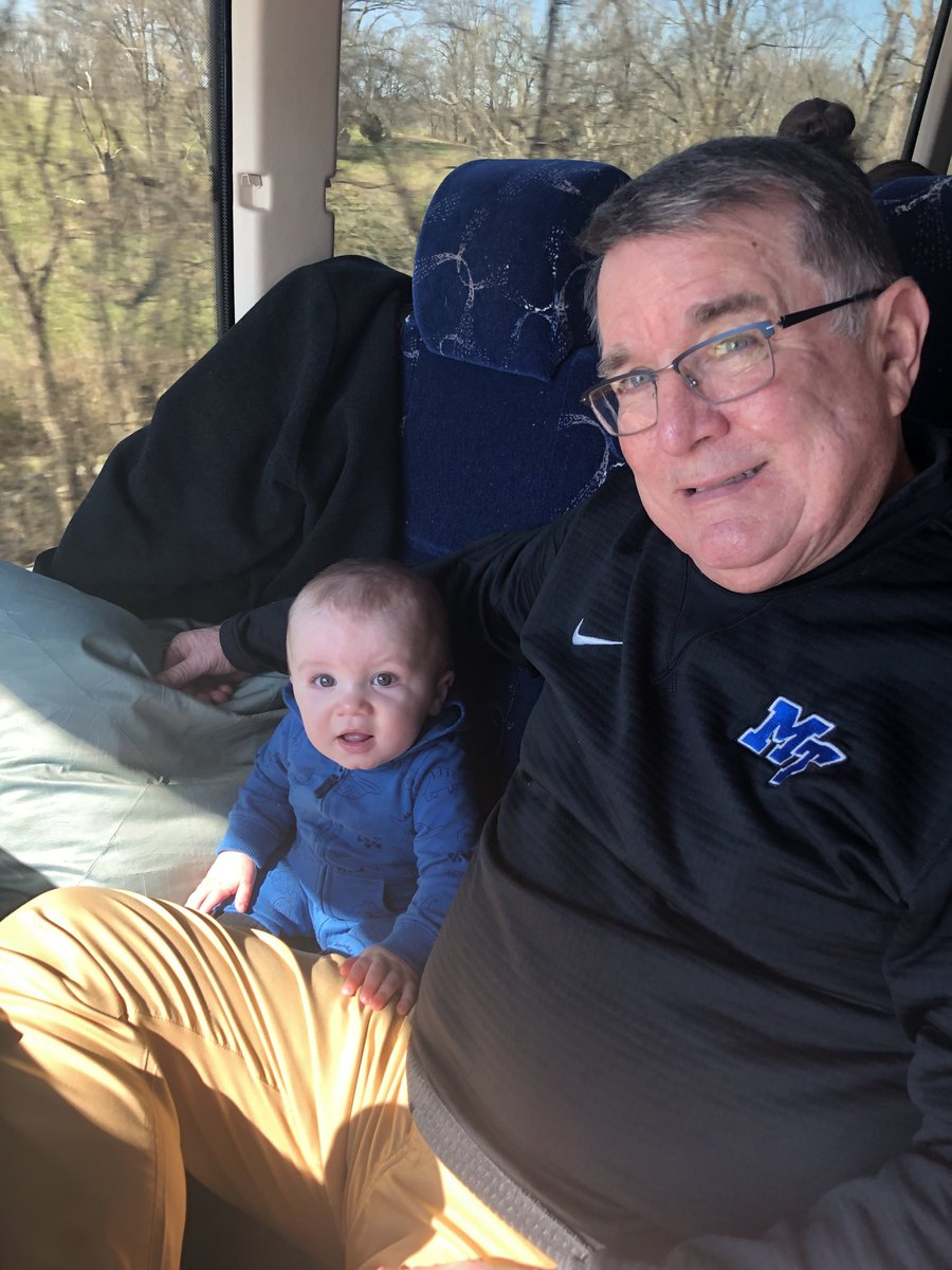 Lady Raider ⁦@CoachInsell⁩ with future head coach and grandson Clark Insell en route to UAB pic.twitter.com/YXJGZDFQxM