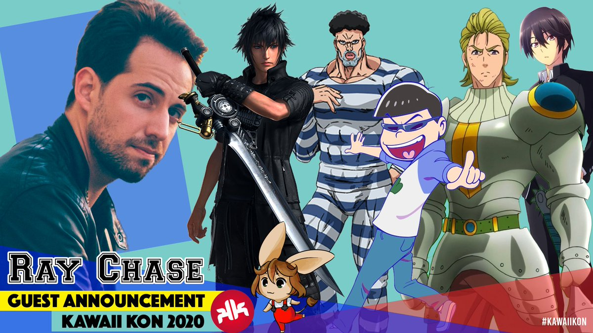 Happy Valentine's! As a gift for you this year, we present: Ray Chase! Ray is known for voicing Noctis in Final Fantasy XV, as well as Killer T-Cell in Cells at Work, Vlad III in Fate/Apocrypha & so many more! Meet him at #kawaiikon May 15-17, 2020! https://t.co/OwrKBBH69x https://t.co/Z6gSIxA8sa