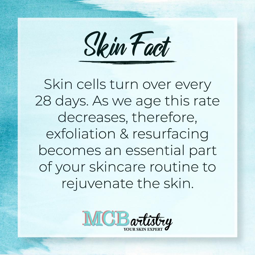 A skin fact a day keeps the skin ageing at bay...  #MCBartistry #skin #skinresurfacing #beauty #skincareroutine  #skingoals #skinfact #exfoliation #skincellspic.twitter.com/O2SsjZTZvn