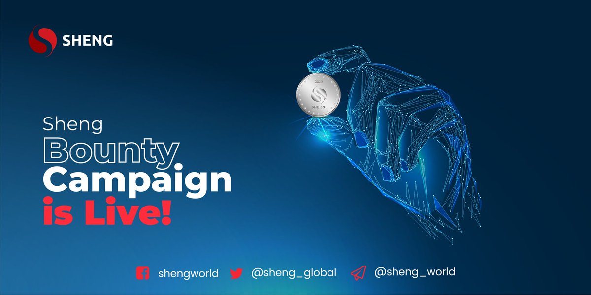 We are glad to share that the Sheng Token Bounty has officially been launched. By participating in the campaign, you can earn lucrative rewards and bonuses. Visit  to start now!   #Shengbounty #shengworld #shengasia #shengieo #cryptobounty #probit