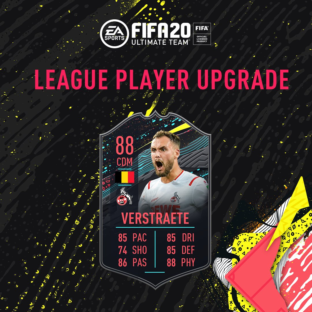 The @Bundesliga_EN League Player has been upgraded.  Complete the @Verstraete41 Objectives are now live in-game.  #FUT20
