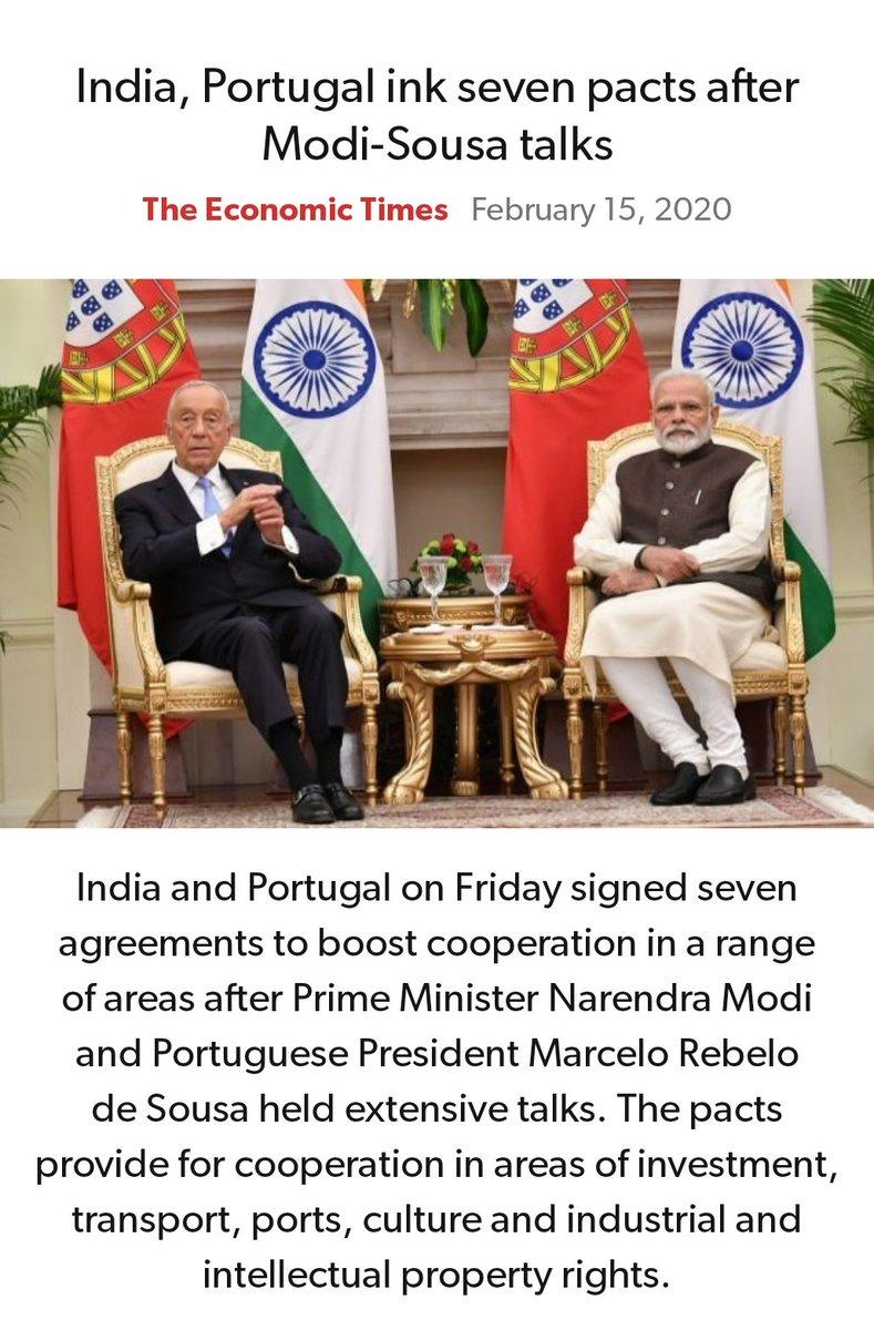 India, Portugal ink seven pacts after Modi-Sousa talks https://economictimes.indiatimes.com/news/economy/foreign-trade/india-portugal-ink-seven-pacts-after-modi-sousa-talks/articleshow/74134109.cms…pic.twitter.com/96LcrOZT3H
