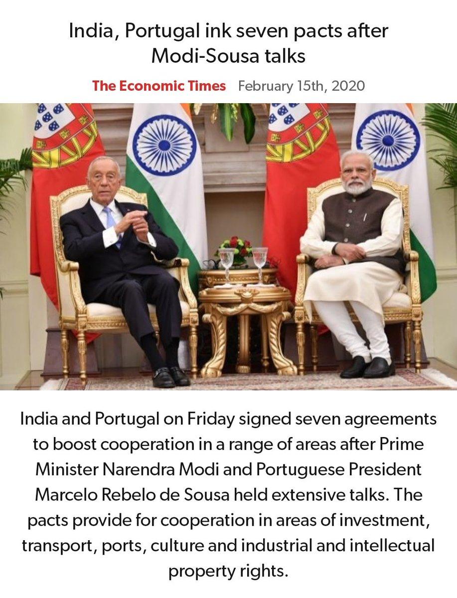 India, Portugal ink seven pacts after Modi-Sousa talks https://economictimes.indiatimes.com/news/economy/foreign-trade/india-portugal-ink-seven-pacts-after-modi-sousa-talks/articleshow/74134109.cms… via NaMo Apppic.twitter.com/YD79UWdlSP
