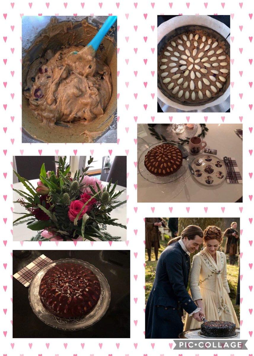 To honor the first episode of S5 i did Bree and Rogers wedding cake. Loved part 1 and Dundee cake💕  @outlanderkitchen  @Writer_DG  @outlander_starz @outlanderhomepage #outlanderseason5 @samheughan @caitrionabalfe @SkeltonSophie @rikrankin @timdownie1 @TheKyleRees @jongarysteele