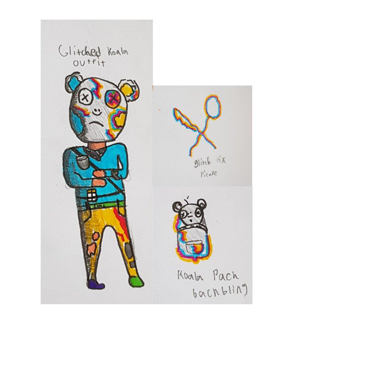 A Fortnite skin consept: Glitchead koala, koala back and Glitch pix  #Fortnite #fortniteskin #epicgames  @FortniteGamepic.twitter.com/gr5BLrwMLg