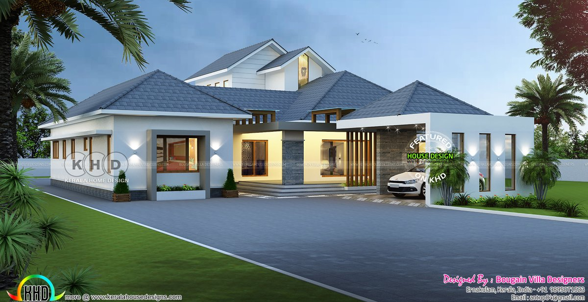 Kerala Home Design Khd On Twitter Big Single Floor Classic House Rendering Https T Co Icpvxgxf77