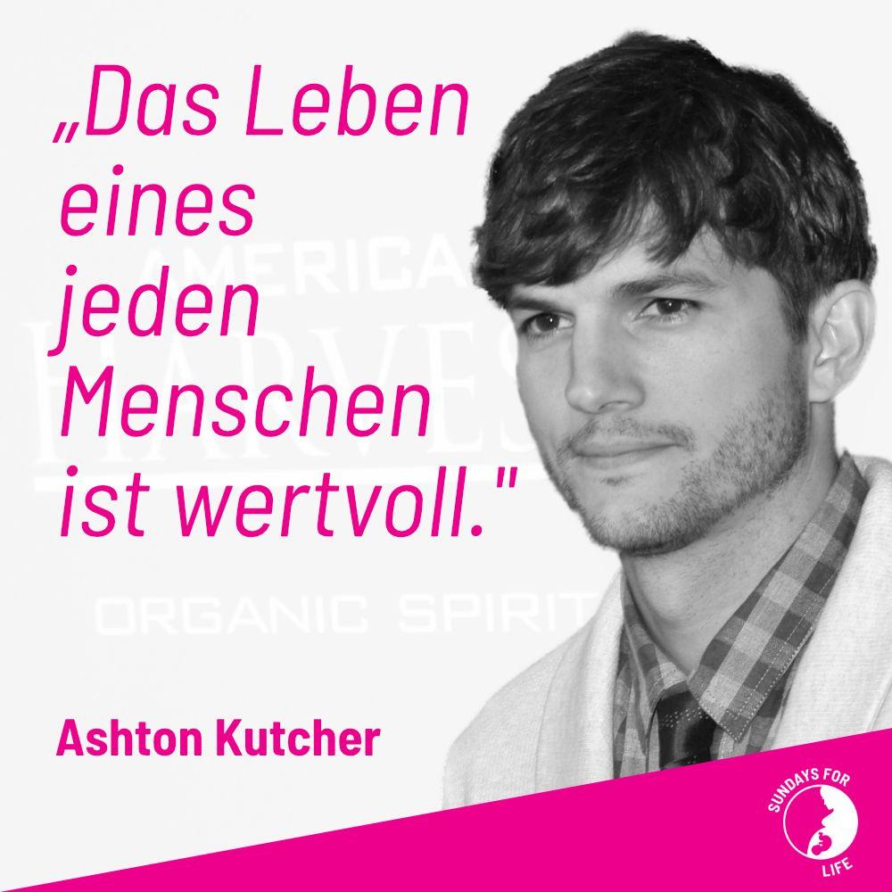 """""""Das Leben eines jeden Menschen ist wertvoll."""" – Ashton Kutcher  http://sfl.onl/9o9h7  #adoption #prolife #liebesiebeide #lifeislife #prochoice #baby #schwanger #schwanger2020 #abbruch #abtreibungistfrauenrecht #abtreibungpic.twitter.com/rZ0WpcURMn"""