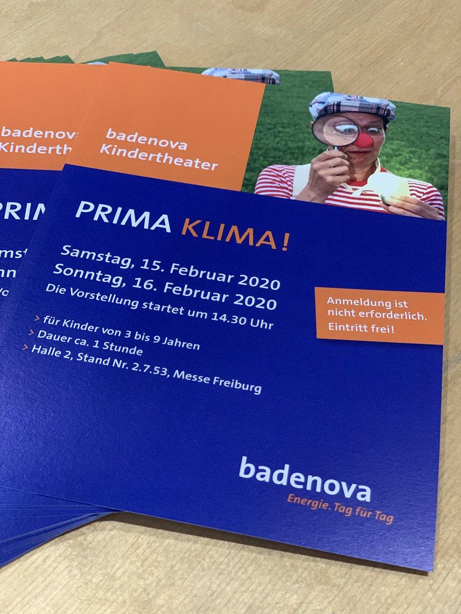 Das @badenovaAG Kindertheater unterhält unsere kleinen Besucher rund um das Thema Prima Klima! Los geht heute und morgen jeweils um 14:30 Uhr an Stand 2.7.53. pic.twitter.com/cHhVxYwghq
